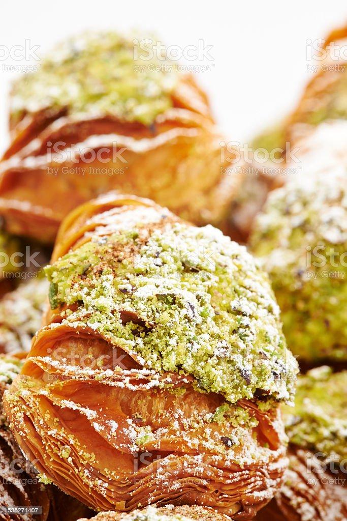 Sfogliatelle Pastries stock photo