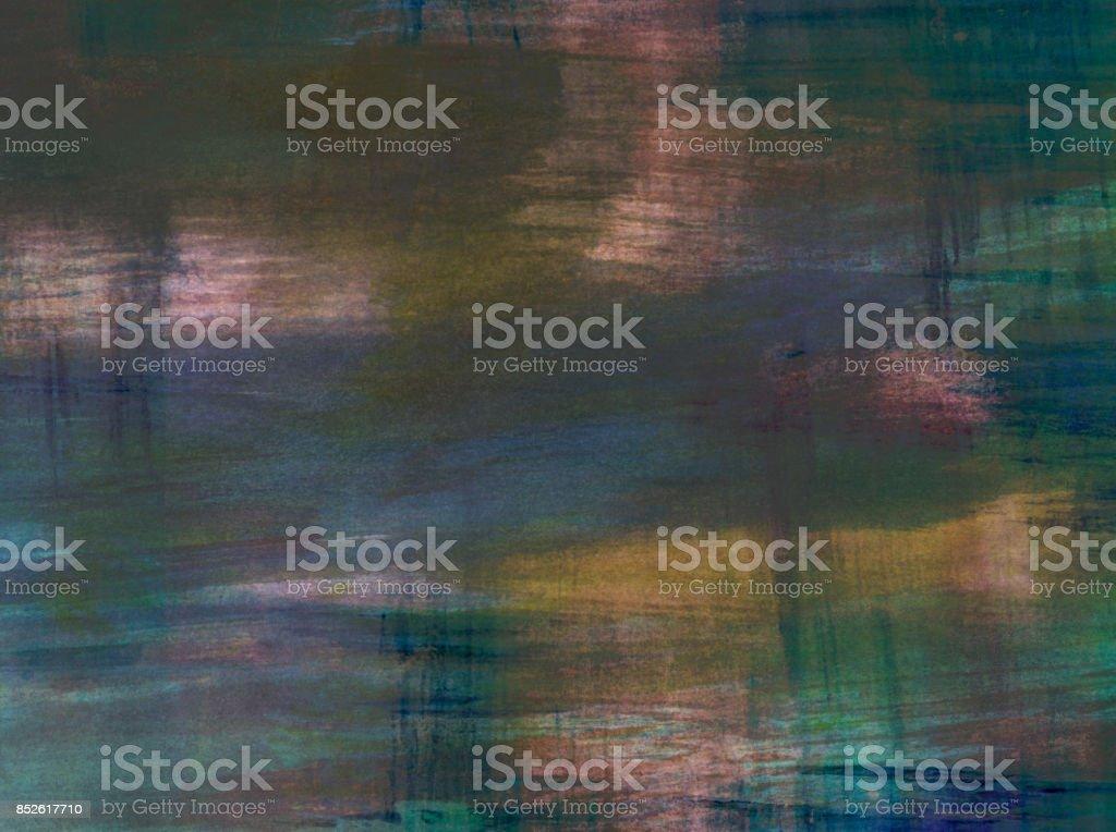 Sfondo astratto con colori acquerello nei toni polverosi del blu, giallo e rosa stock photo