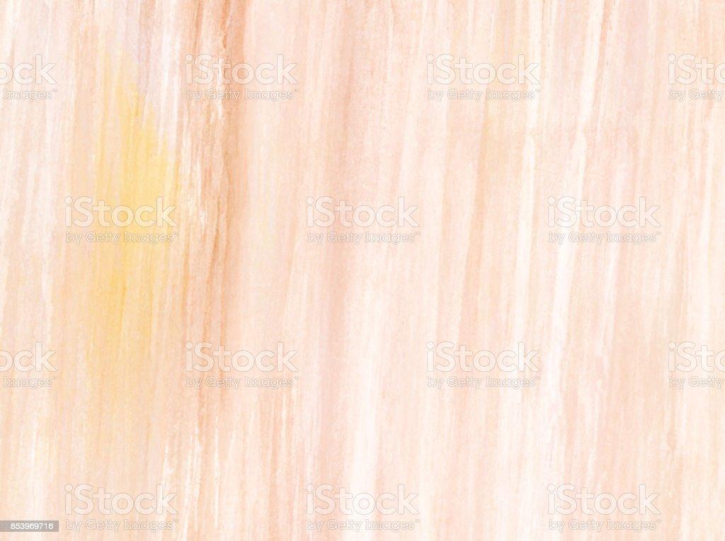 Sfondo astratto con pennellate di colore acquerello nei toni del beige, giallo e rosa stock photo