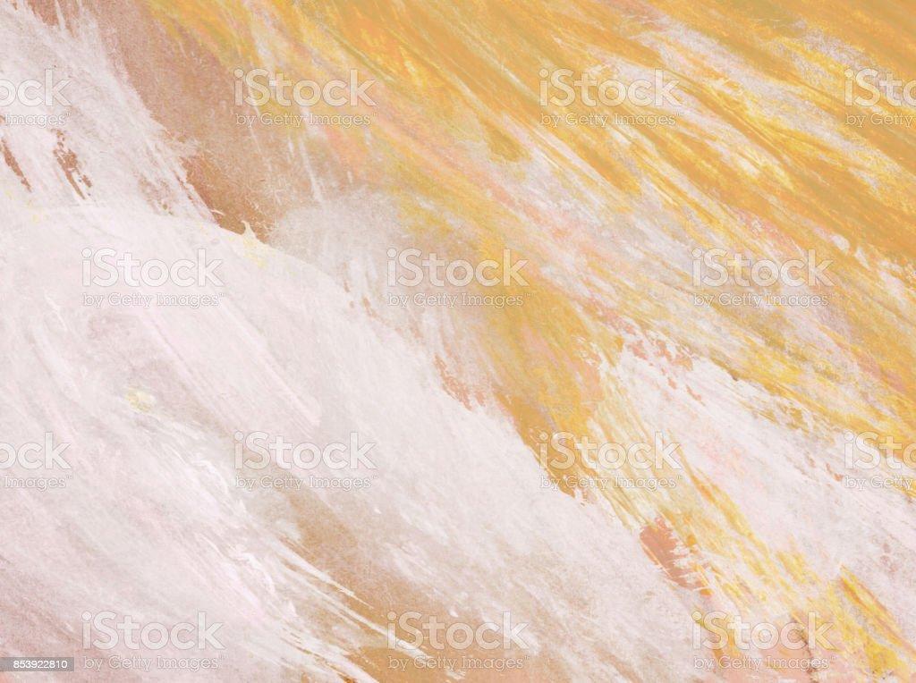 Sfondo con pennellate di colore acquerello nei toni del giallo, bianco e rosa stock photo