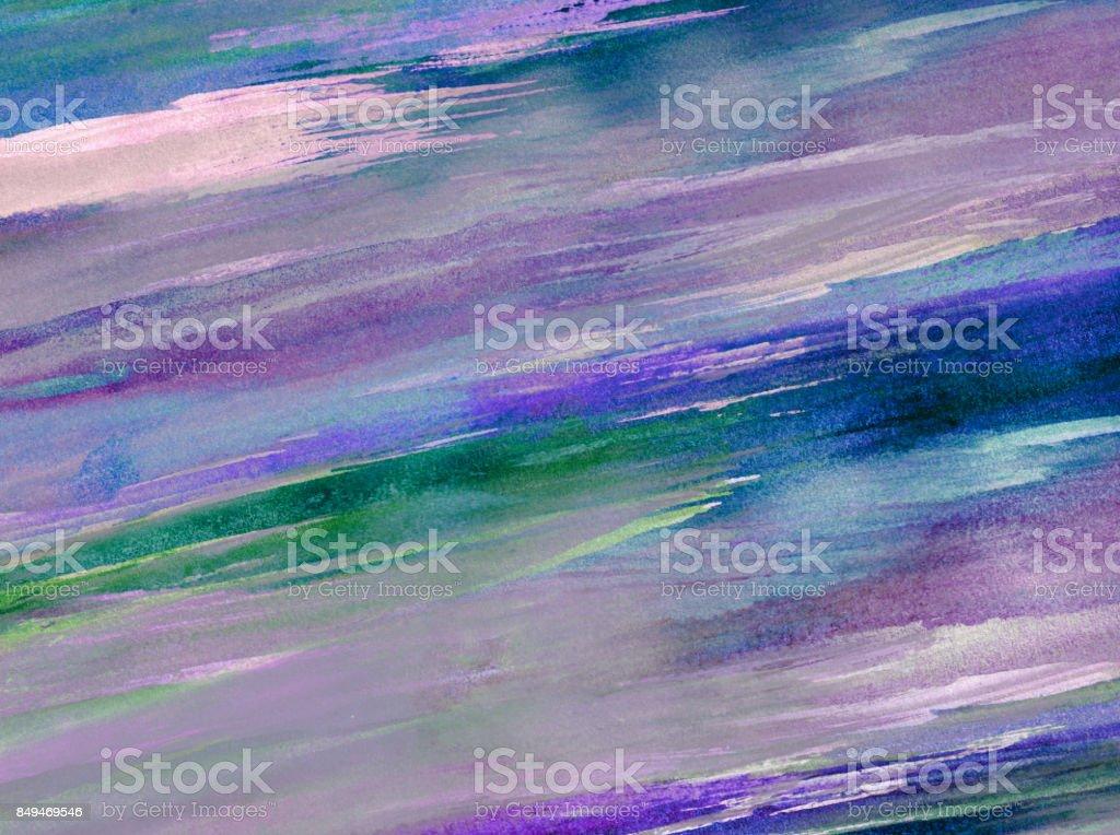 Sfondo Con Pennellate Di Colore Nei Toni Del Blu Verde E Viola Stock