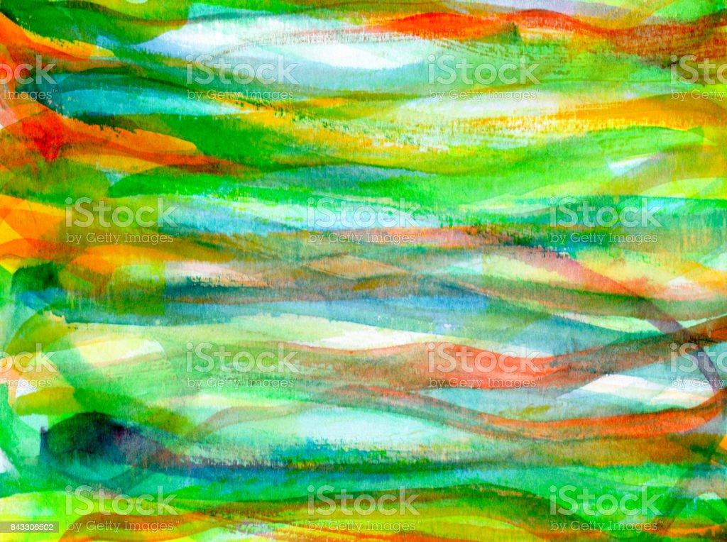 Sfondo Con Pennellate Orizzontali Di Colore Nei Toni Del Verde