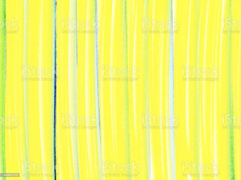 Sfondo con pennellate verticali di colore nei toni del giallo, azzurro e verde stock photo
