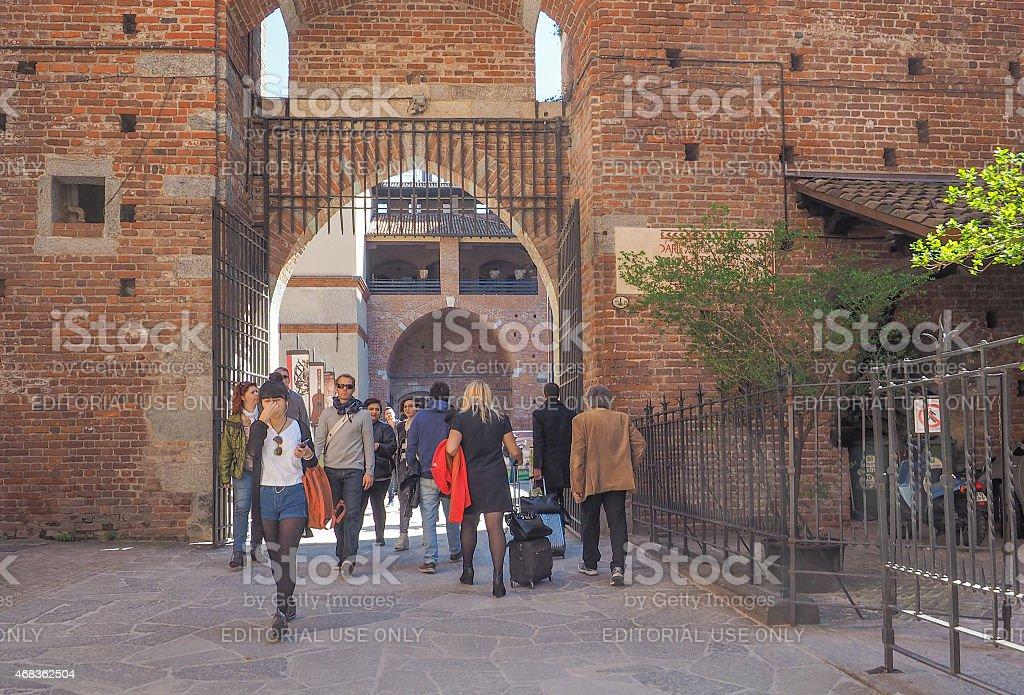 Sforza Castle in Milan royalty-free stock photo
