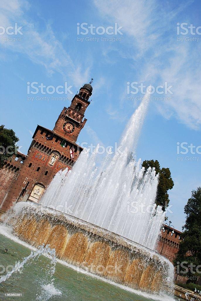 Sforza castle, Milan royalty-free stock photo