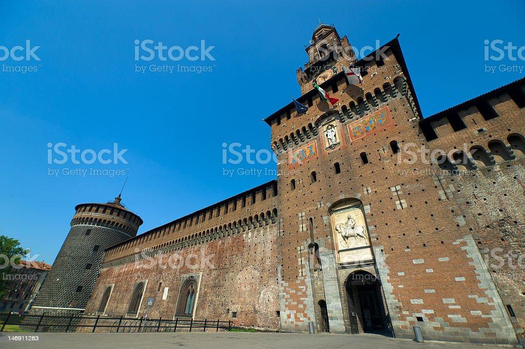 Sforza's Castle stock photo