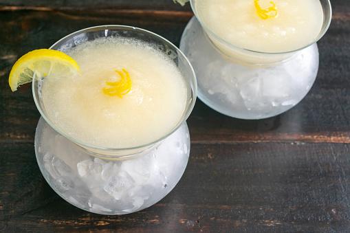Sgroppino al Limone (Lemon Sorbet Cocktails)