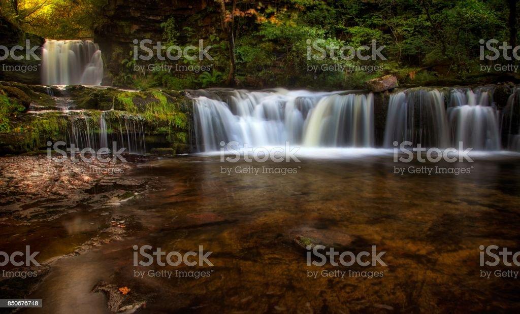 Sgwd Ddwli Isaf waterfalls South Wales stock photo