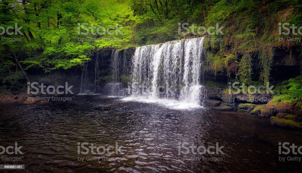 Sgwd Ddwli Uchaf, South Wales stock photo