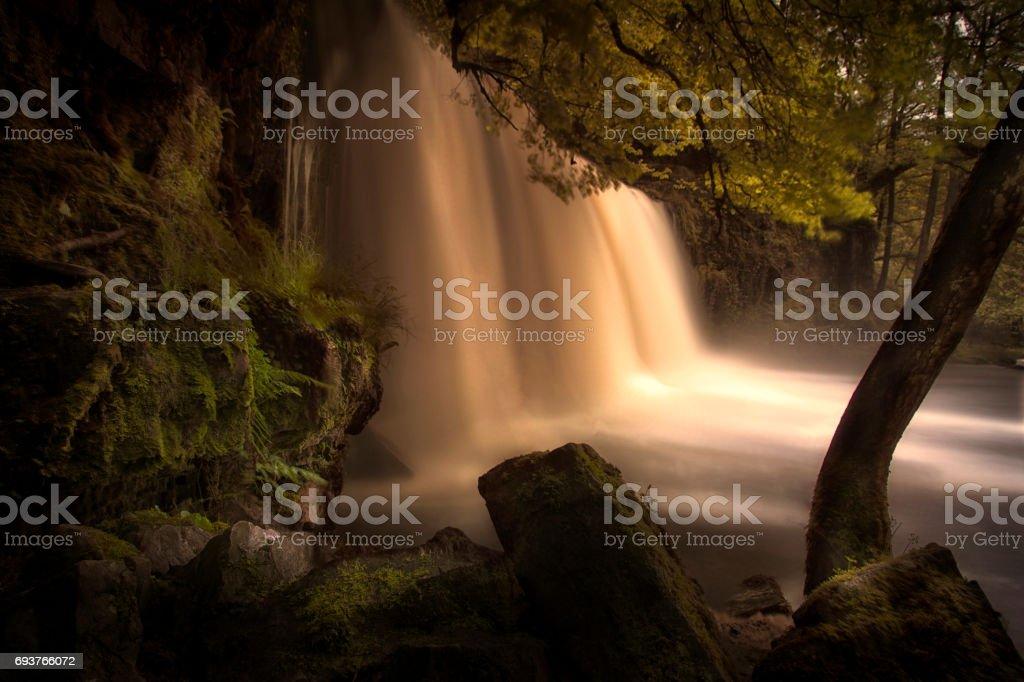 Sgwd Ddwli Uchaf waterfall country stock photo