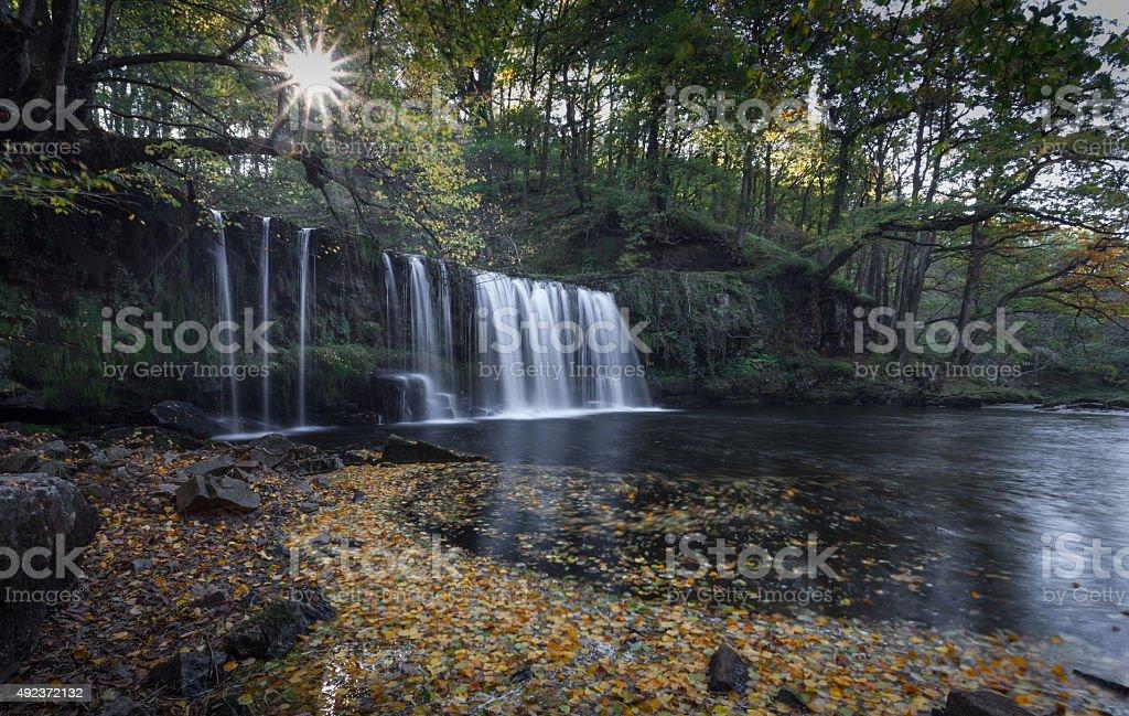 Sgwd Ddwli Uchaf waterfall stock photo