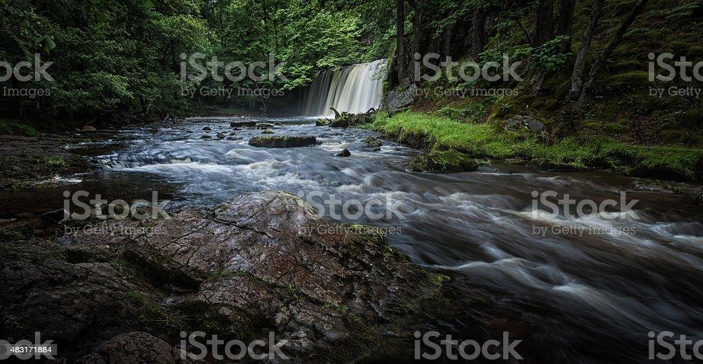 Sgwd Ddwli Uchaf waterfalls South Wales stock photo