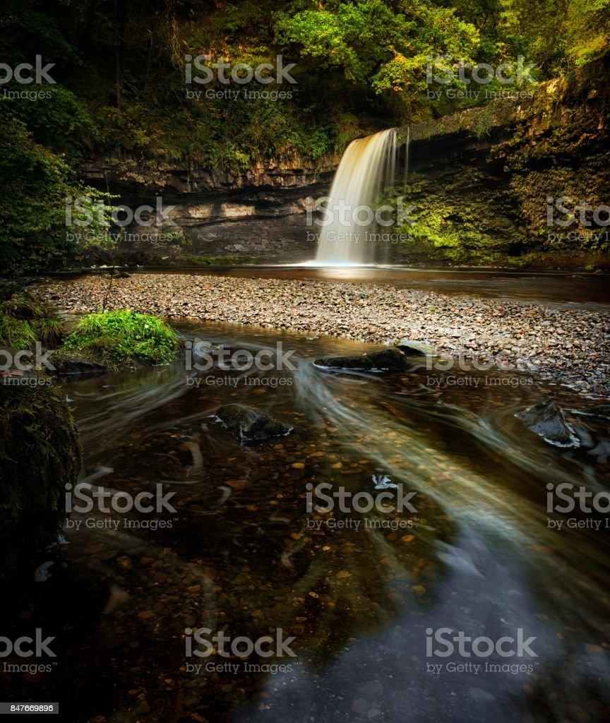 Sgwd Gwladus waterfall AKA Lady Falls stock photo