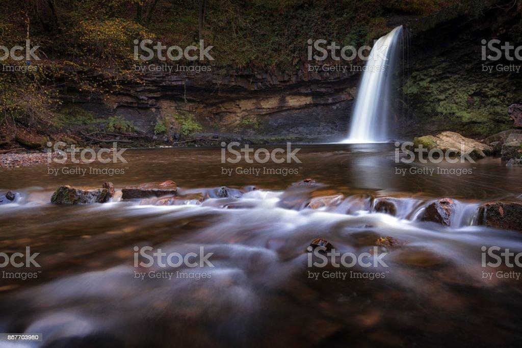 Sgwd Gwladus waterfall stock photo