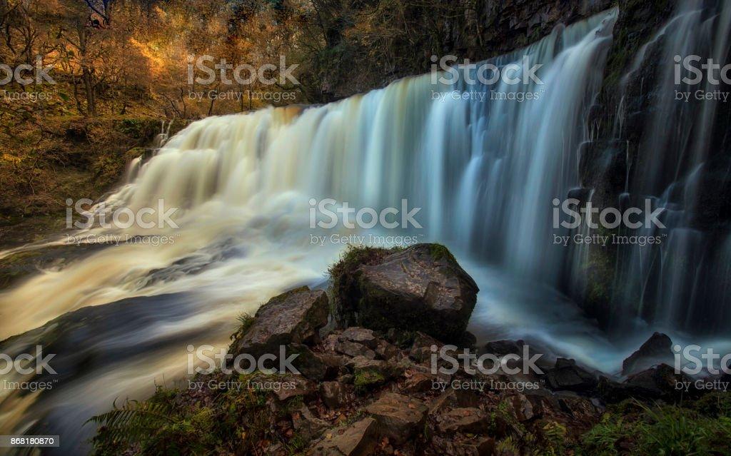 Sgwd Isaf Clun-gwyn Falls stock photo