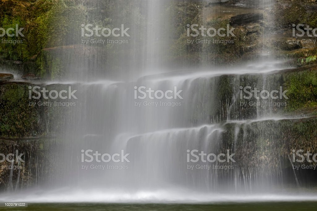 Sgwd yr Eira waterfall, Brecon Beacons National Park, Wales stock photo