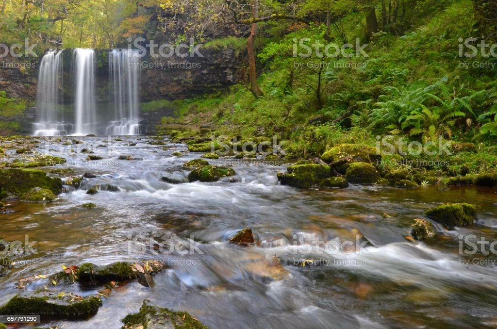 Sgwd yr Eira waterfall stock photo