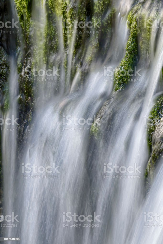 Sgwd yr Pannwr waterfall, Brecon Beacons National Park, Wales stock photo