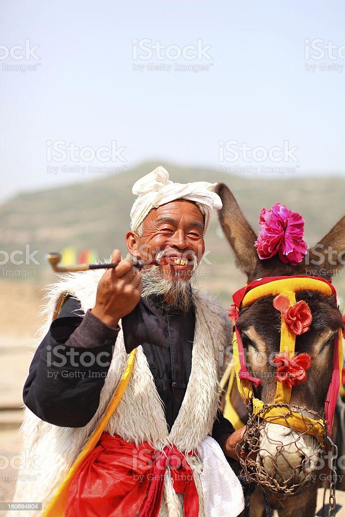shaanxi farmer royalty-free stock photo