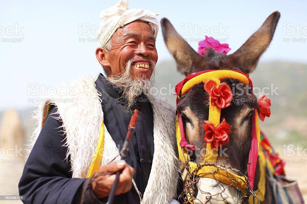 shaanxi farmer stock photo