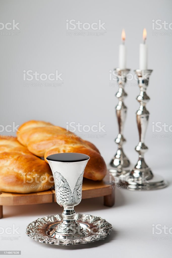Shabbat isolated on a white background stock photo