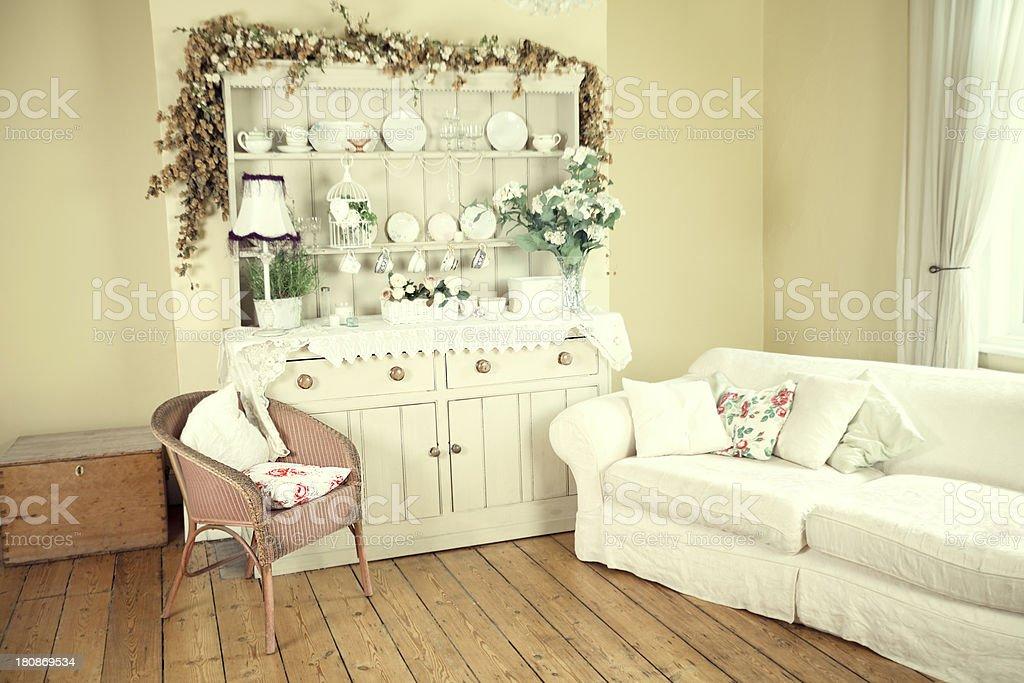 Shabby Chic breakfast room royalty-free stock photo