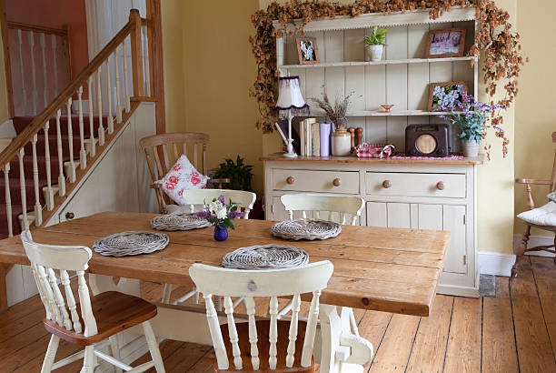 Shabby Chic Kitchen stock photo