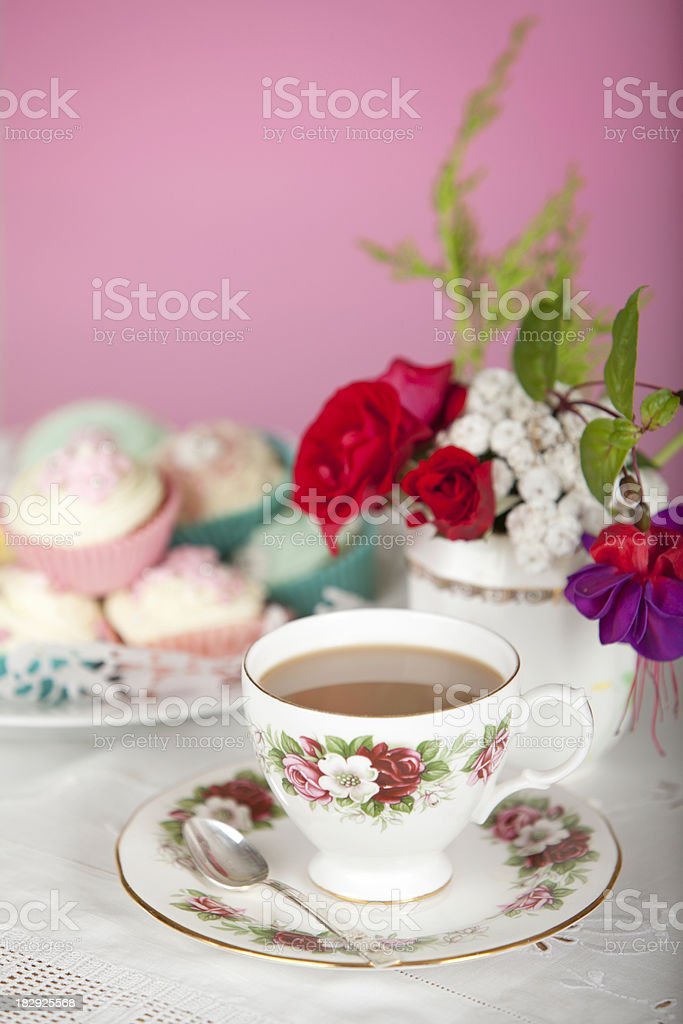 Shabby Chic Teatime stock photo