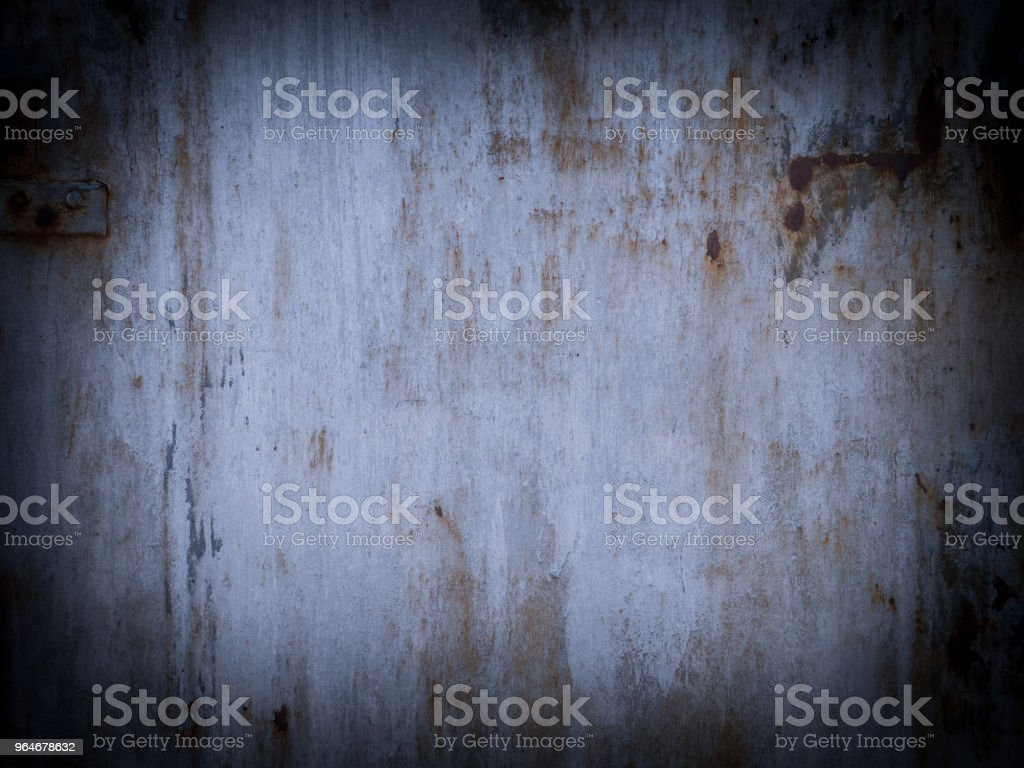 Shabby white painted metal surface with vignette royalty-free stock photo