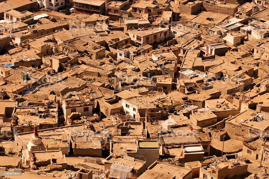 Shack and slums in India royalty-free stock photo