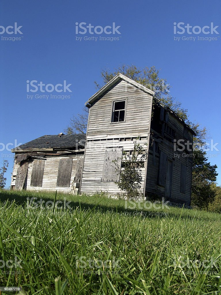 Shack in the Grass royalty-free stock photo