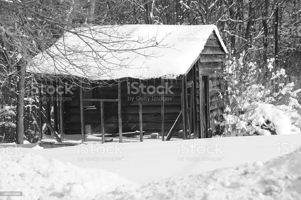 Shack in Winter royalty-free stock photo