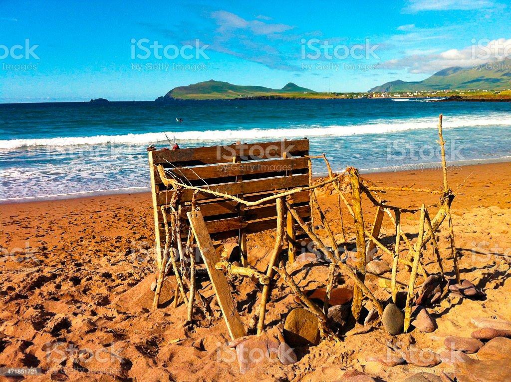 Shack on the beach royalty-free stock photo