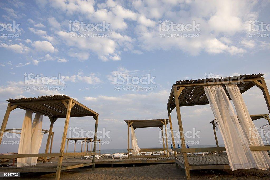 Shade Sails in beach II royalty-free stock photo