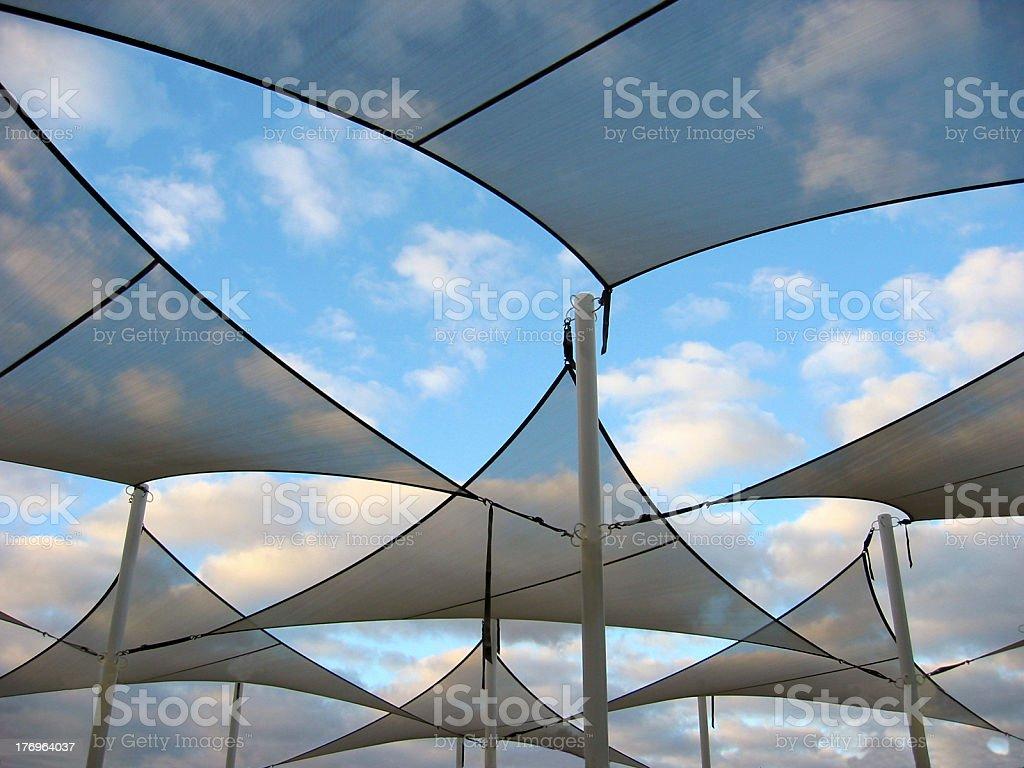 Shade Sails royalty-free stock photo