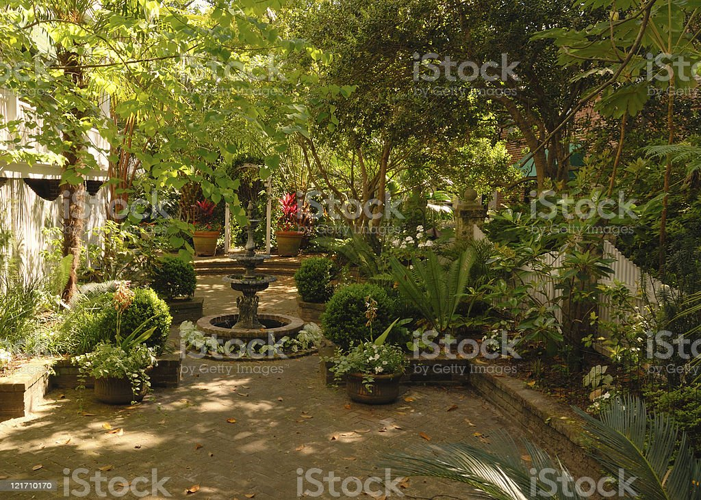 Shaded Garden Stock Photo Download Image Now Istock