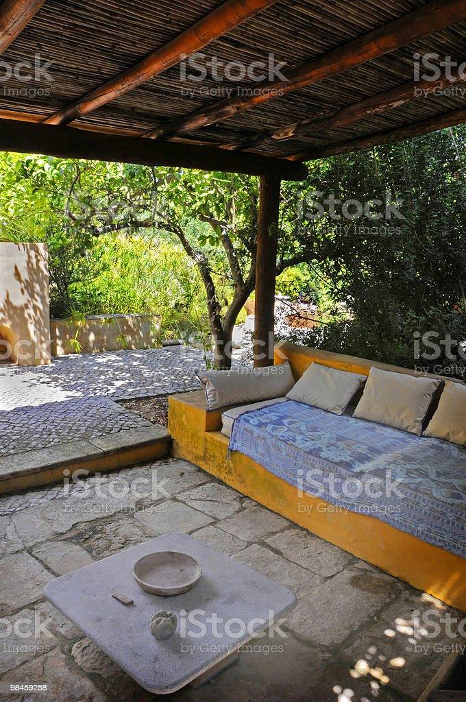 Shaded sofa royalty-free stock photo