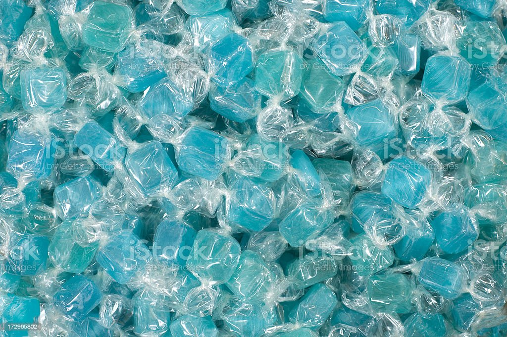 Shades of blue candy stock photo