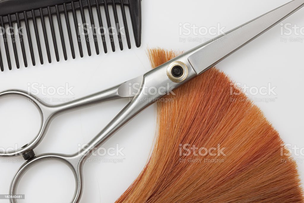 Shades of Fire Hair Highlights stock photo