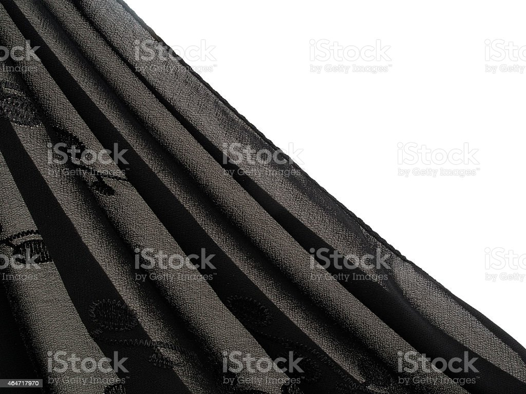Shades of grey, gray and black, fine fabric headscarf . stock photo