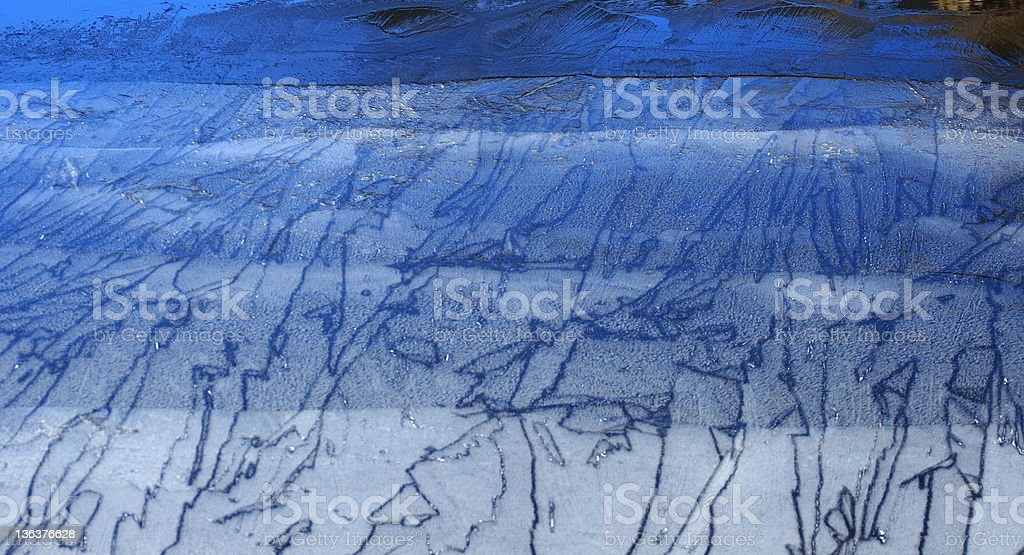 Shades of ice on a semi-frozen lake royalty-free stock photo