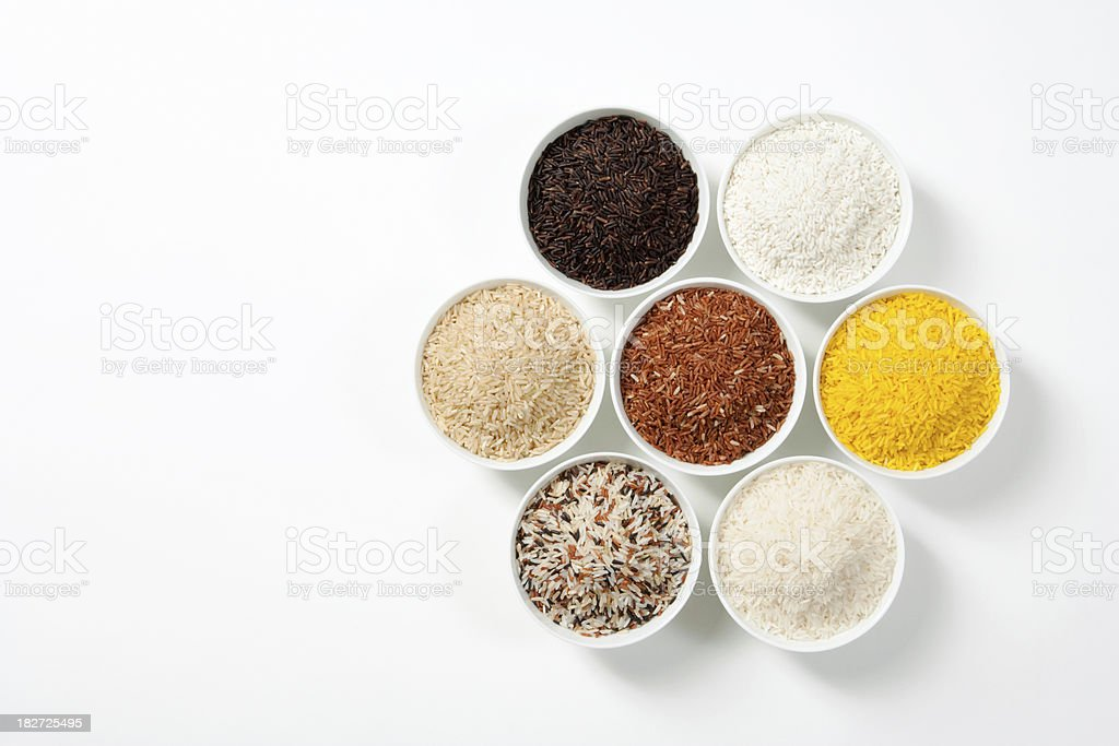 7 Shades Of Rice stock photo