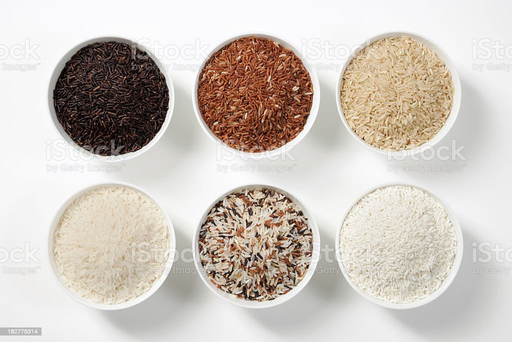 6 Shades Of Rice stock photo
