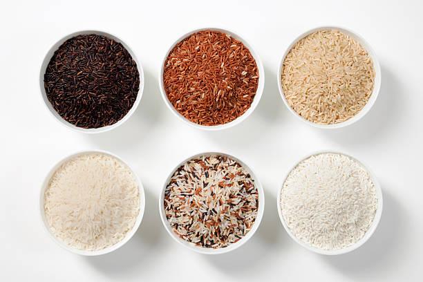 6 Shades Of Rice stock photo