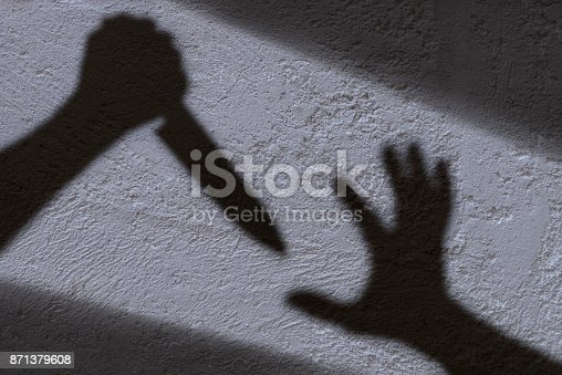 istock Shadow and knife 871379608