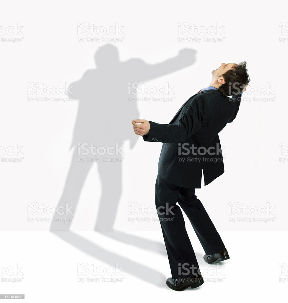 Shadow boxing royalty-free stock photo