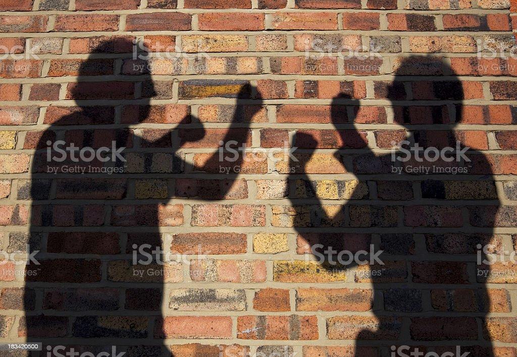 Shadow Boxing stock photo