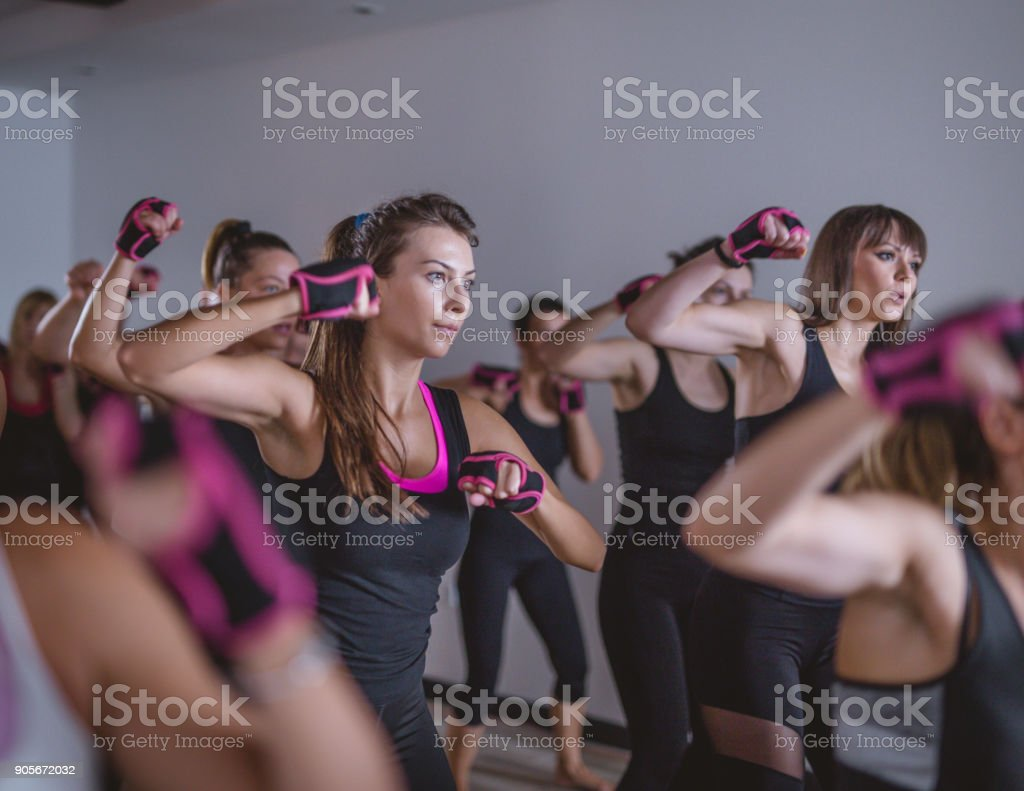 Shadow boxing stock photo