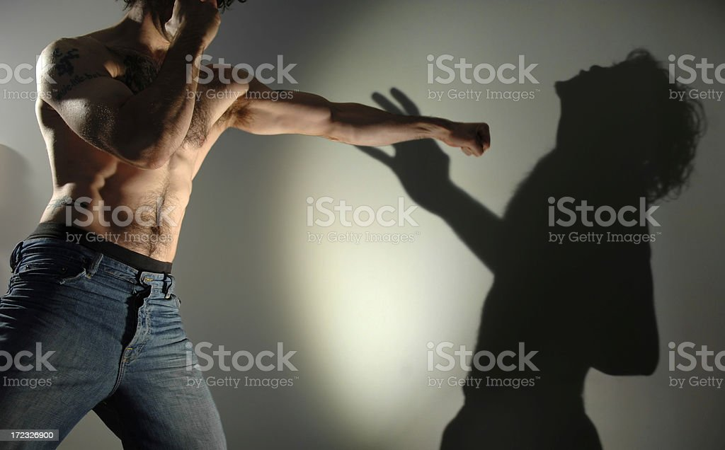 shadow boxing series royalty-free stock photo