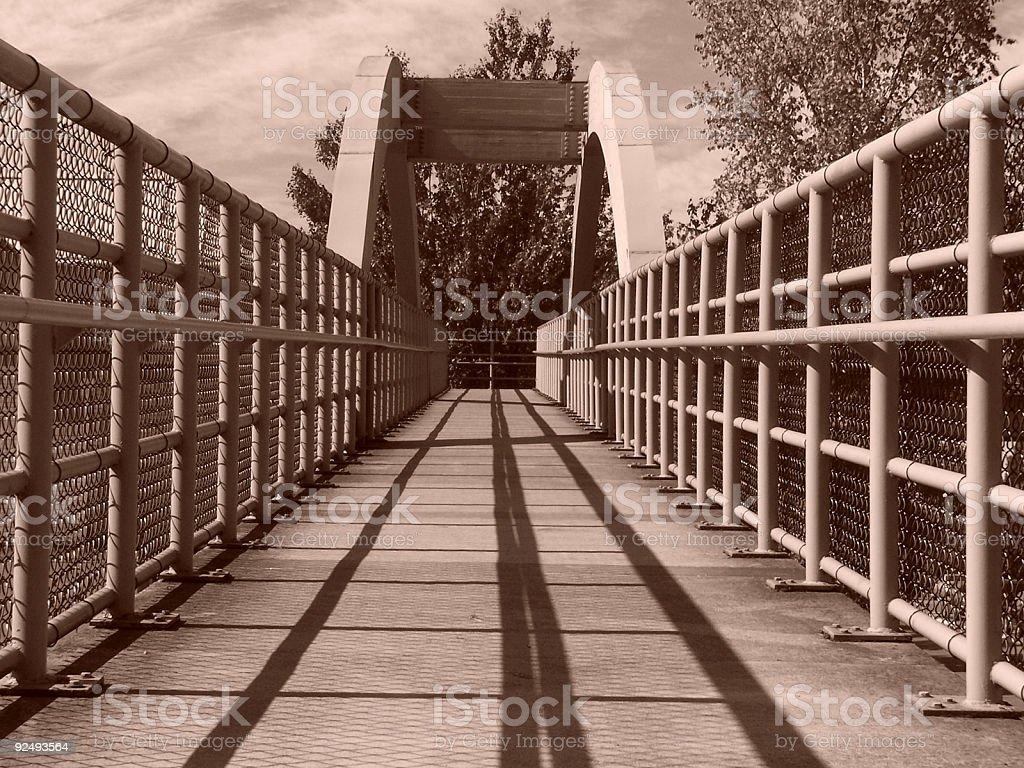 Shadow Bridge royalty-free stock photo